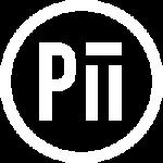 Pii colour logo white